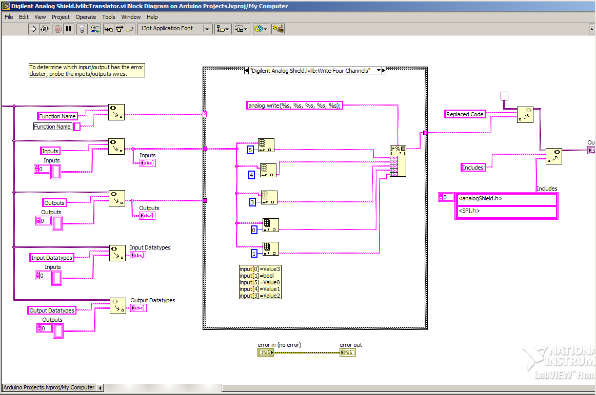Wrapping arduino library into LabVIEW VI, Arduino Compiler for